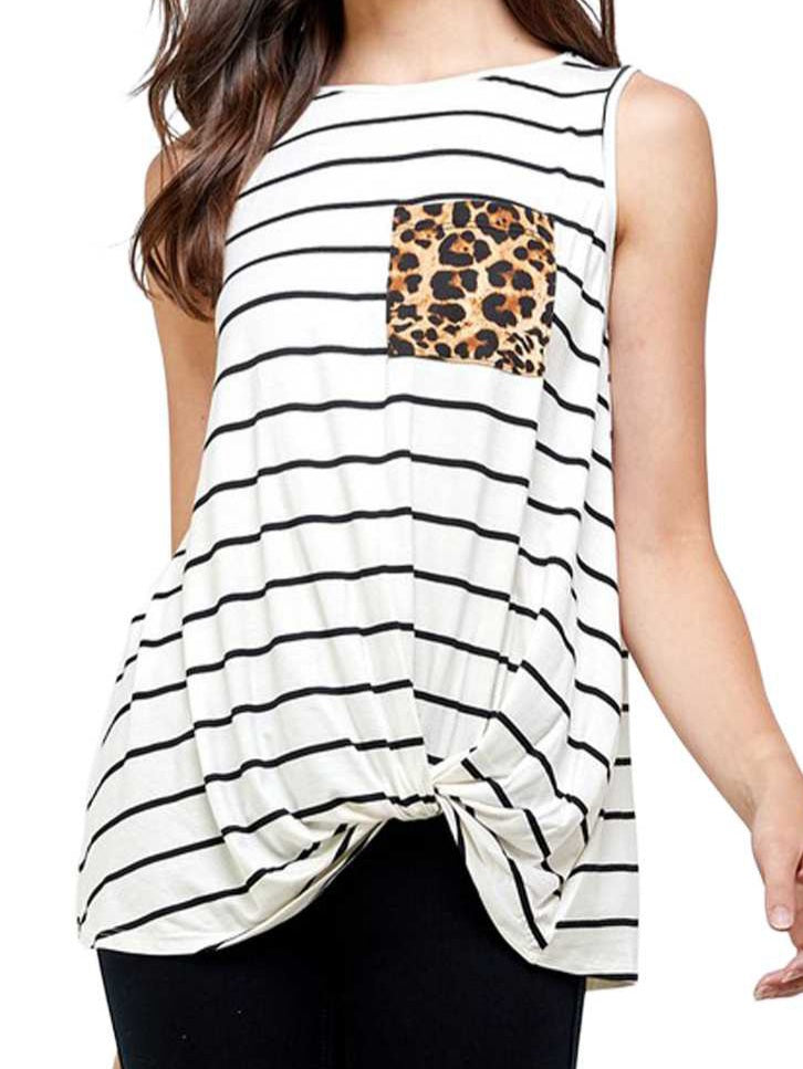 Tank Tunic in Stripe and Leopard