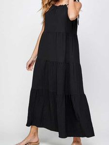 Tiered Sundress in Black