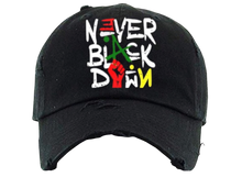 NEVER BLACK DOWN®️ Dad Hats