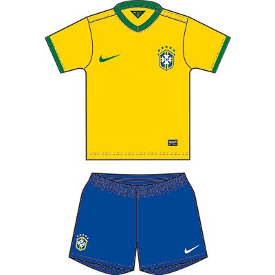 Nike Brasil Infants Home Kit 13