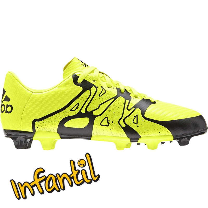 adidas X 15.3 FG-AG J Yellow-Black Kids