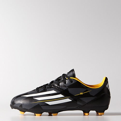 adidas F10 FG J Black-White-Gold Kids