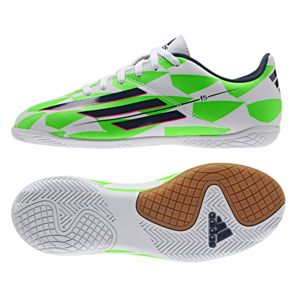 adidas F5 IN J White-Blue-Green Kids