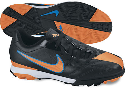 Nike Jr T90 Shoot IV TF Black-Ora Kids