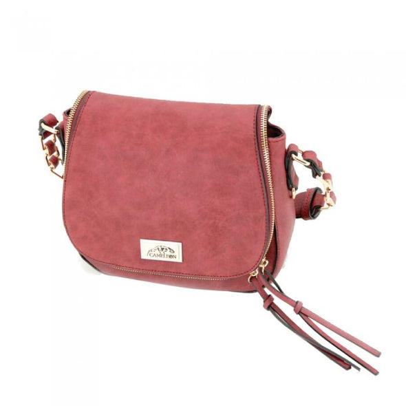 Petal Single Strap Concealed Carry Purse: Red
