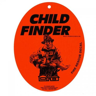 Child Finder Fire Rescue Decal with Suction Cup