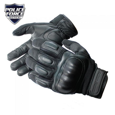 Police Force Hard Knuckle Tactical Gloves L