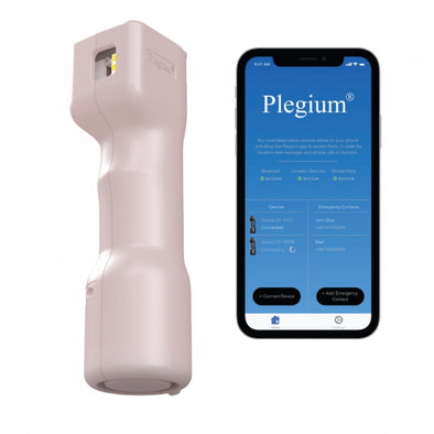 Plegium Smart (5 in 1) Pepper Spray w-Free App PINK