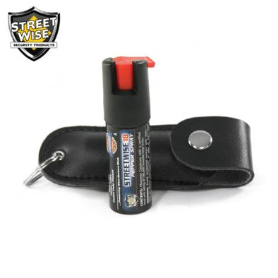 Lab Certified Streetwise 18 Pepper Spray, 1-2 oz. Soft case BLACK