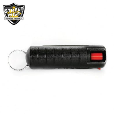 Lab Certified Streetwise 18 Pepper Spray, 1-2 oz. Hard Case BLACK