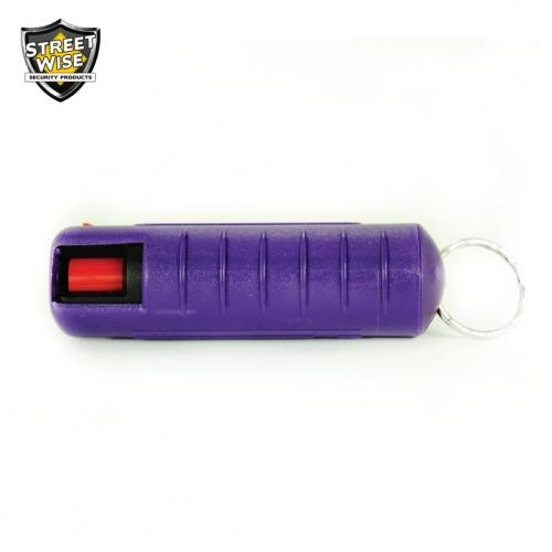 Lab Certified Streetwise 18 Pepper Spray, 1-2 oz. Hard Case PURPLE