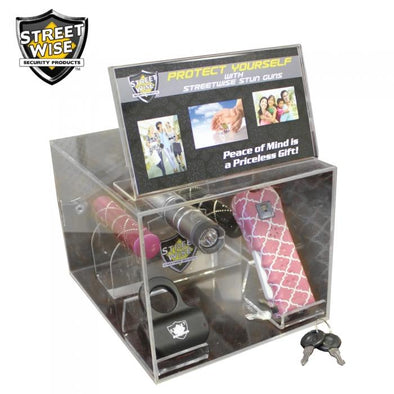 Streetwise Acrylic Box Display w-Sign Holder