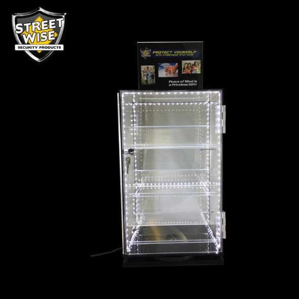 Streetwise Rotating Countertop Display with LEDs