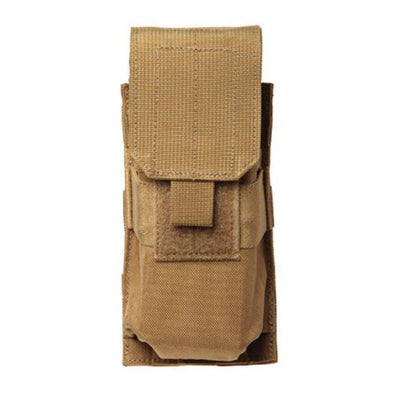 M4-m16 Single Mag Pouch (holds 2) - Molle, Coyote Tan
