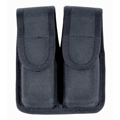 Double Mag Pouch (single Row) Cordura - Black, 9mm-.40 Cal-.45 Cal