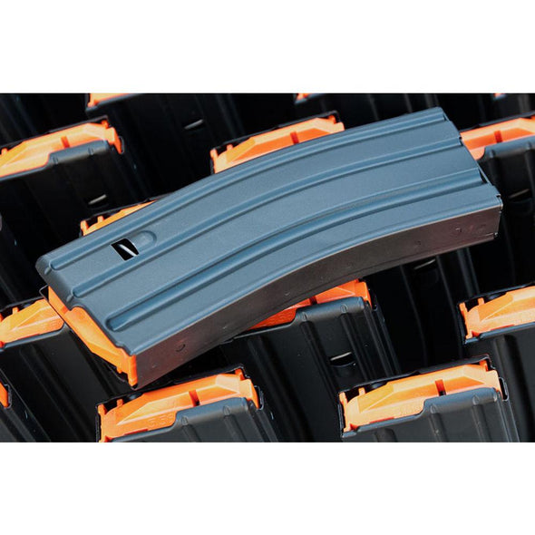 Ar-15 Magazine - .223-5.56 - 10 Round (crimped From 30) - Black-orange - C-Products Shooting | EM Self Defense and Security - factory replacement magazines, pistol high capacity magazines, high quality rifle magazines