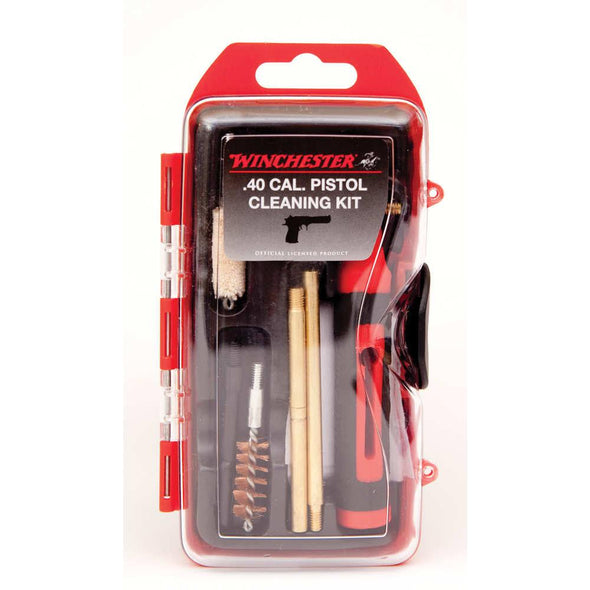 Winchester Mini Pistol Cleaning Kit - 14 Piece, 40 Cal-10mm