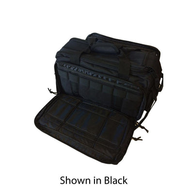 Ranger 4-pistol Range Bag - Ice Collection, Black With Teal