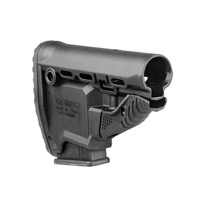 M4 'survival' Buttstock W- 'built-in' Mag Carrier - Matte Black