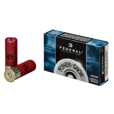 "Power-shok Ammunition - 12 Gauge"", 2 3-4"", 9 Pellets 00 Buckshot"