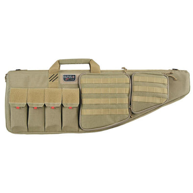 "Tactical Ar Case With External Handgun Case, 42"", Soft, Tan"