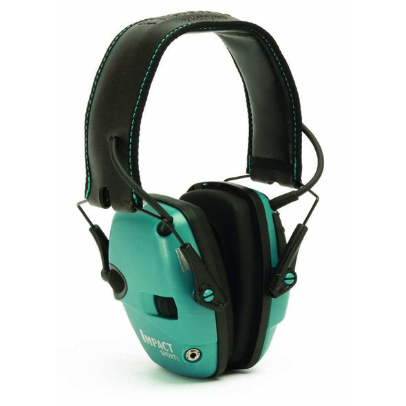 Impact Sport Electronic Earmuff Teal Nrr 22 Db - Howard Leight Shooting | EM Self Defense and Security - professional gun cleaning kit, hunting backpack with gun holder, 12 gauge cleaning kit, Picatinny rail torch, standing bipod