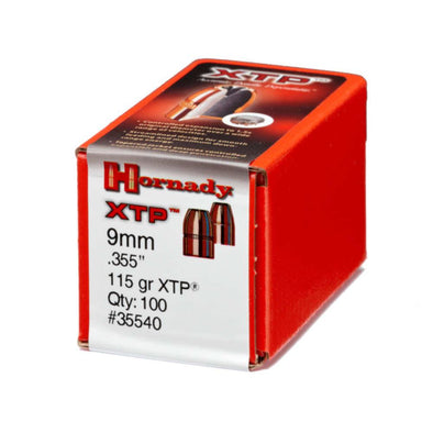 "Xtp Extreme Terminal Performance Bullet - 9mm .355"" Hp, 115 Gr, 100-bx"