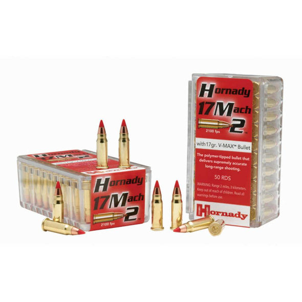 Varmint Express Rimfire Ammunition - 17 Mach2, 17 Grain, V-max - Hornady Shooting | EM Self Defense and Security - competition grade ammunition, high quality name brand ammo, inexpensive rifle and handgun ammunition