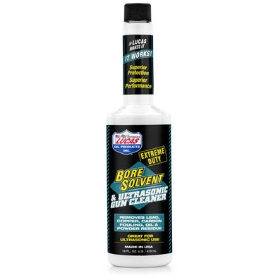 Lucas Extreme Duty Bore Solvent & Ultrasonic Gun Cleaner - 16 Oz. Liquid Bottle