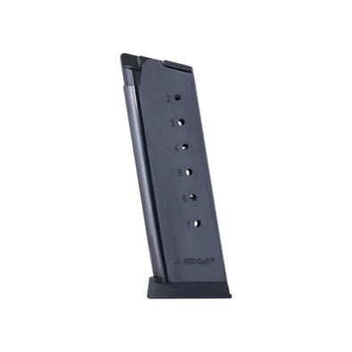 Colt Officer's 1911 Magazine - 45 Acp, 7 Rounds W-plastic Removable Buttplate & Follower
