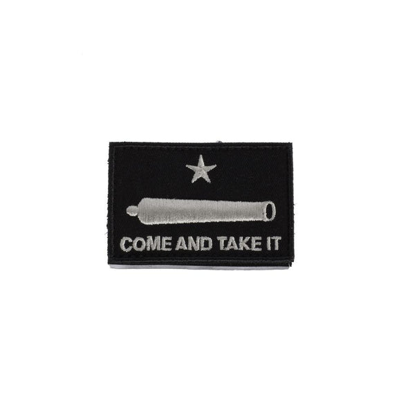 Come And Take It Cannon Black Patch - SHOOTING MADE EASY Miscellaneous | EM Self Defense and Security - best self defense tools for women, aftermarket gun parts, home security system tools