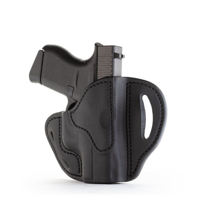 Open Top Multi-fit Belt Holster - Stealth Black - Right Hand - Bersa Thunder 380, Glock 42-43, Kim Micro9, Rug Lc9, Sig P365