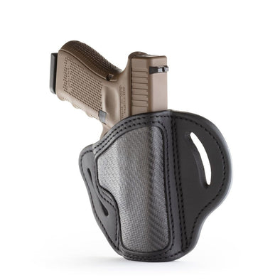 Project Stealth Owb Multi-fit Belt Holster - Carbon Fiber - Right Hand - Ber 92c, Cz Cz75, Hk40 Vp9, Glk 17-19-25, Rug Sr9