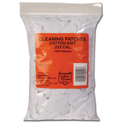 Cotton Knit Cleaning Patches - .223 Caliber, 1000 Bulk Bag - Southern Bloomer Gun Care | EM Self Defense and Security - best self defense tools for women, aftermarket gun parts, home security system tools