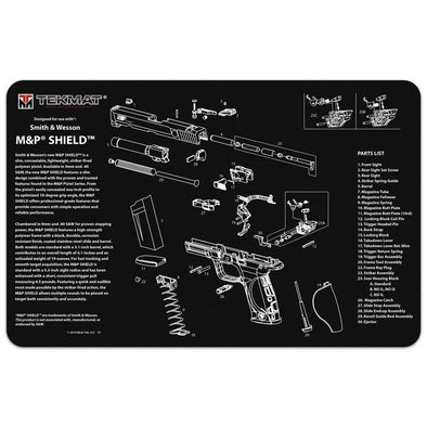 "Smith & Wesson M&p Shield Cleaning Mat - 11"" X 17"""