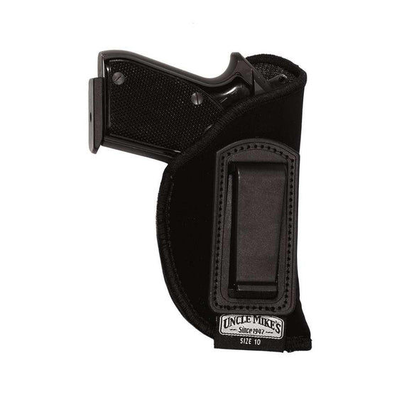 Inside-the-pant Holster - Black - Right - Size 10 - Uncle Mike's Shooting | EM Self Defense and Security - high quality concealed carry holsters, ankle gun holsters concealed, gun holder for car