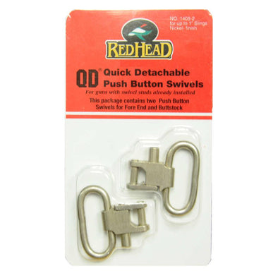 "Uncle Mikes Red Head Qd 1"" Swivels (2 Pack) - Nickel"