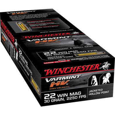 22 Win Mag Ammunition 30gr Jhp - 50 Rounds