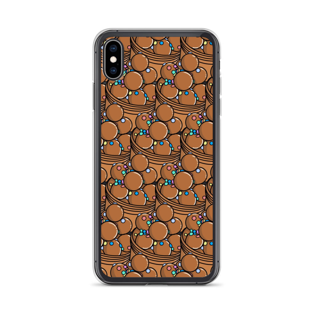 Chocolate Donut Slime iPhone Case