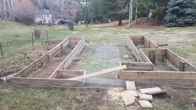 how to frame raised garden beds