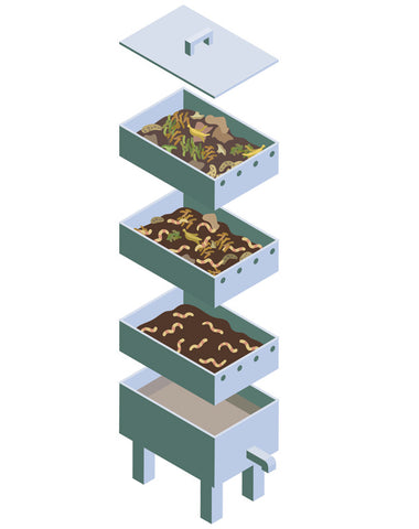how to build a vermicomposting worm farm