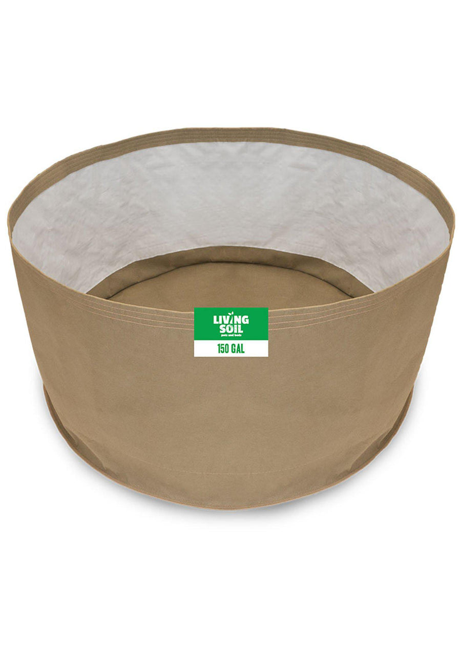 150 Gallon Fabric Living Soil Pots - GrassRoots