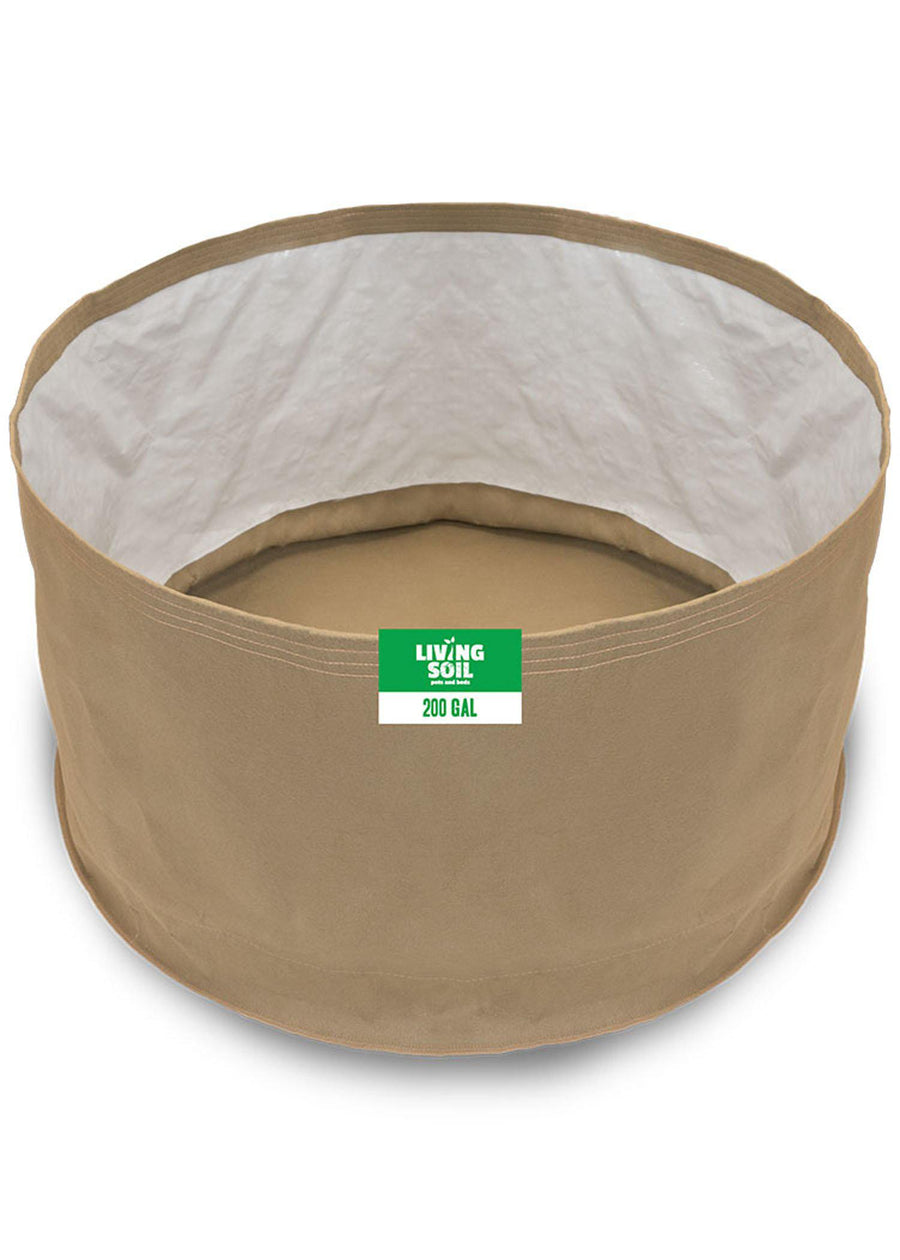 200 Gallon Fabric Living Soil Pots - GrassRoots