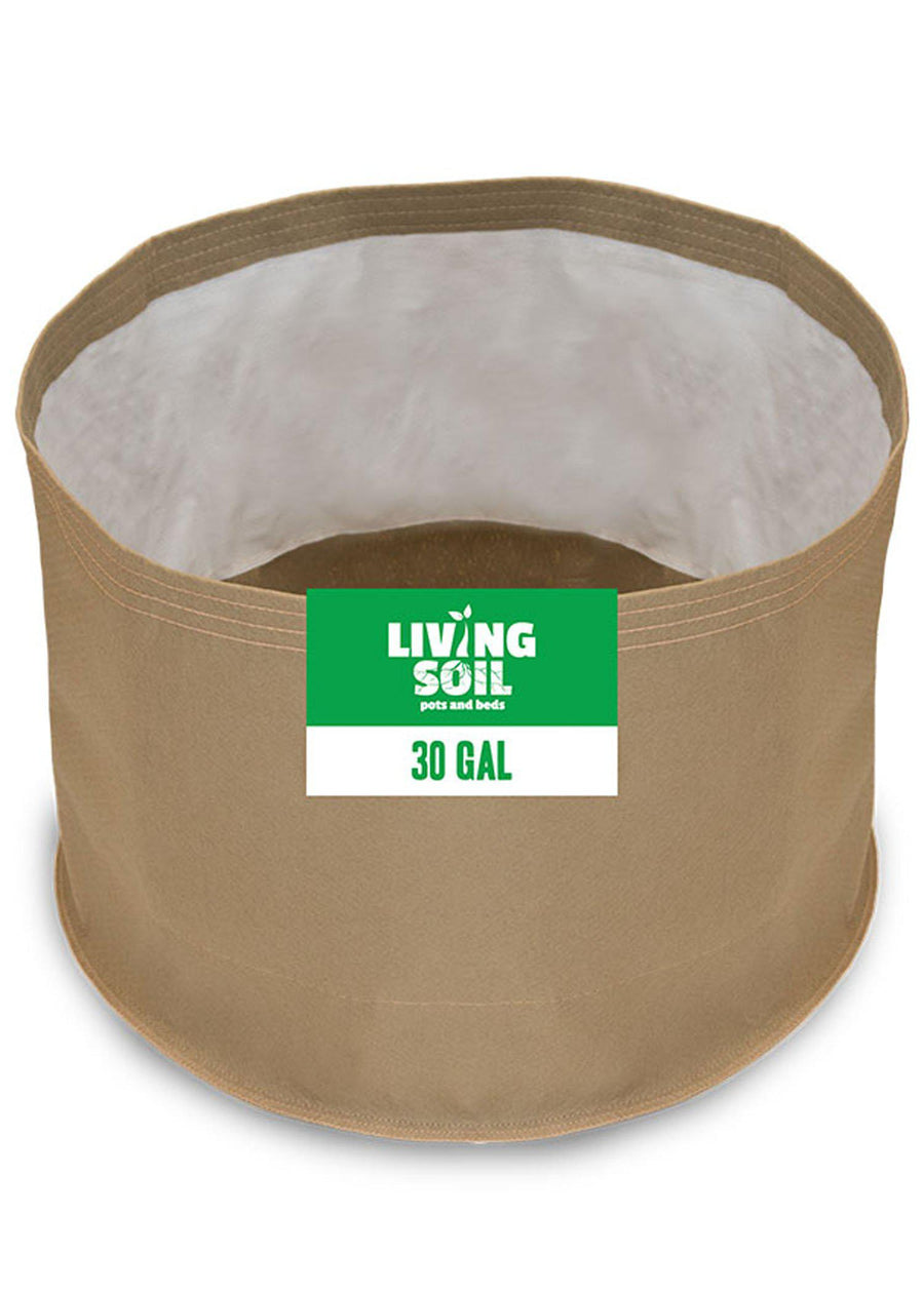 30 Gallon Fabric Living Soil Pots - GrassRoots