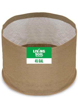 45 Gallon Fabric Living Soil Pots - GrassRoots
