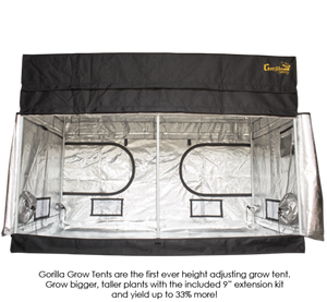 "Gorilla Grow Tents Shorty 4' x 8' Heavy Duty Indoor Grow Room - 48"" x 96"""