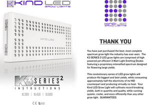 Kind LED K3 XL300 Series 2 - 210 Watt Led Grow Light Full Spectrum