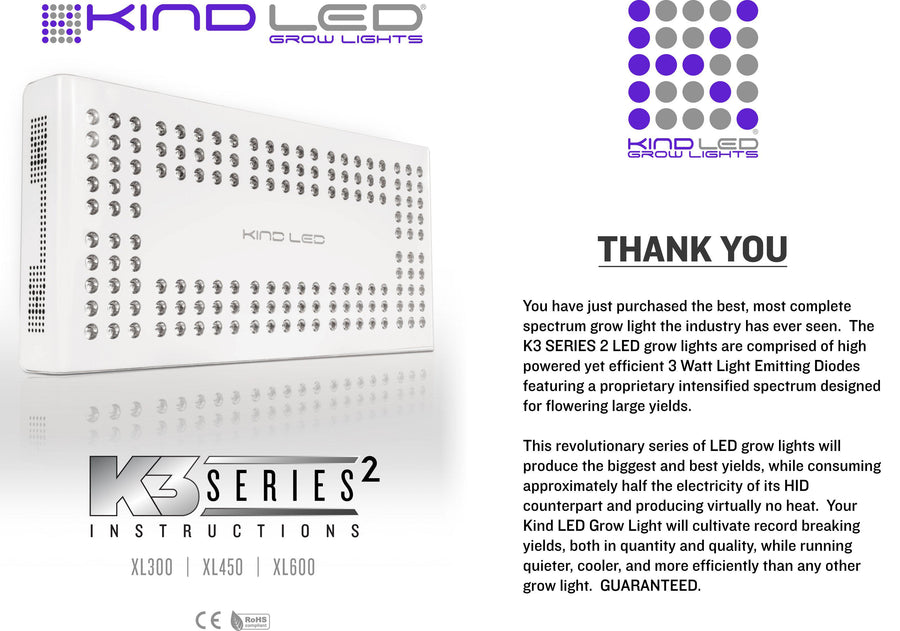 Kind LED K3 XL600 Series 2 - 320 Watt Led Grow Light Full Spectrum