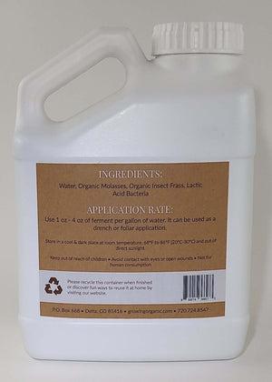 Insect Frass Fermented Plant Extract - 1 Gallon