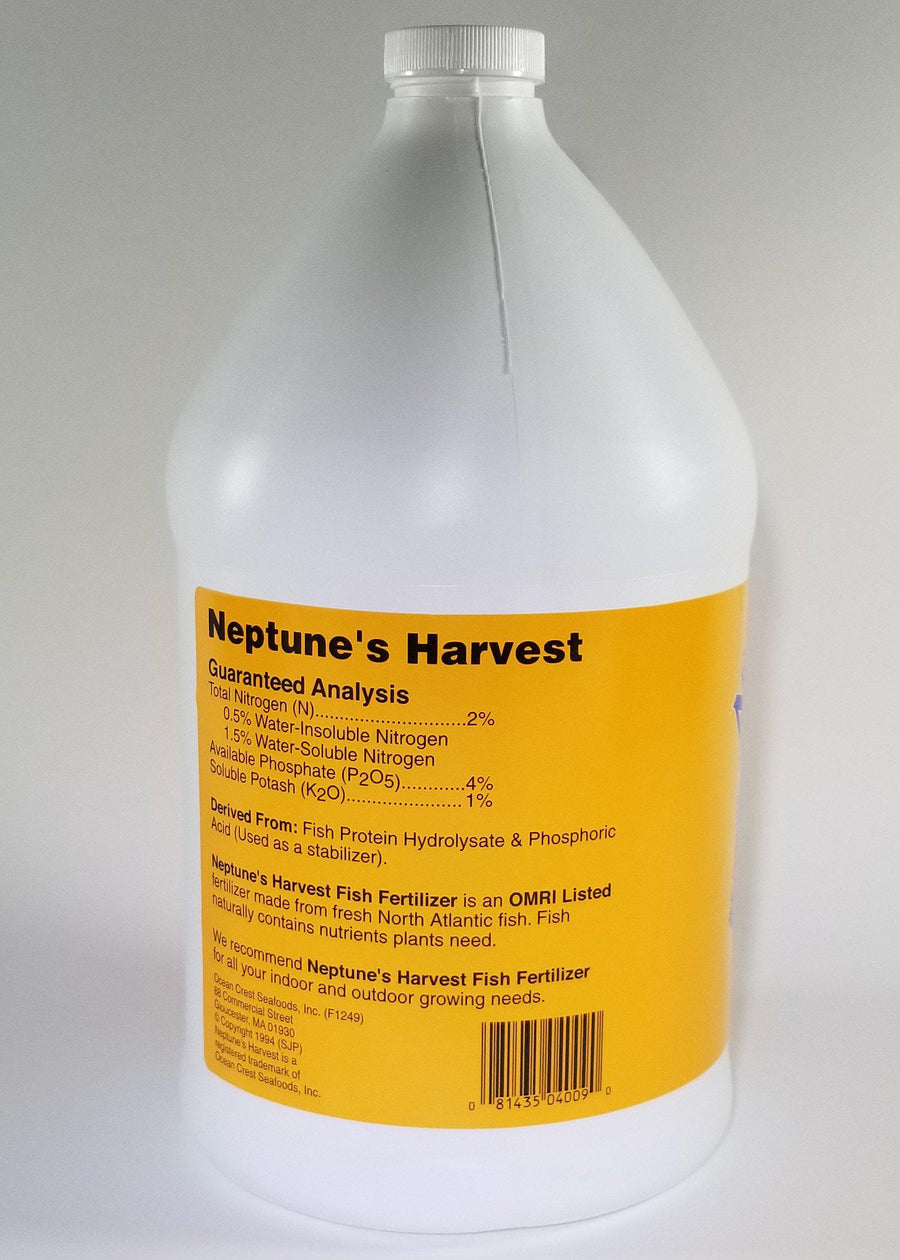 Neptune's Harvest Hydrolyzed Fish Fertilizer Gallon